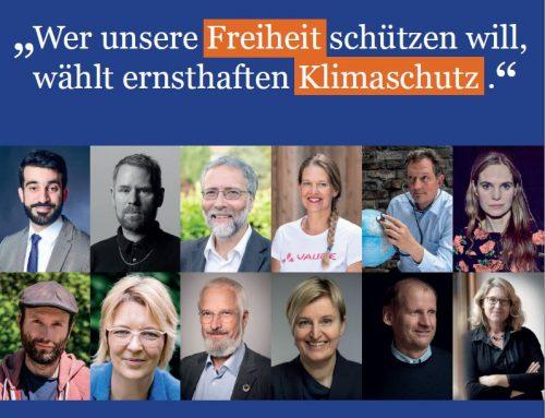 """Veröffentlich des Statements zur Bundestagswahl: """"Klimaschutz ist Freiheitsschutz"""""""